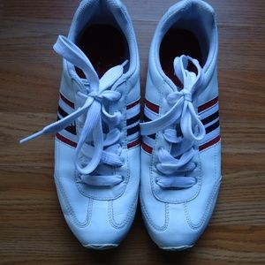 Size 8.5.Tommy Hilfiger white tennis shoes .